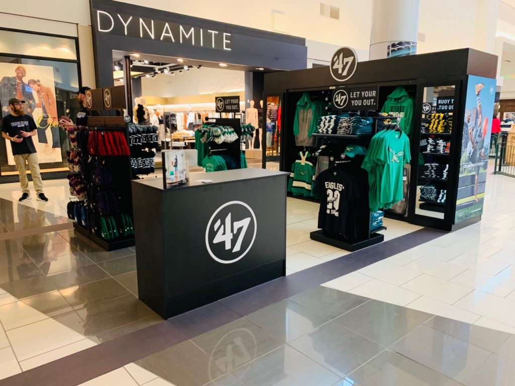 47 club pop up at Cherry Hill Mall